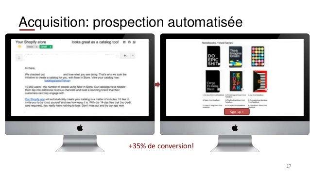 Acquisition: prospection automatisée 17 Sign up > +35% de conversion!