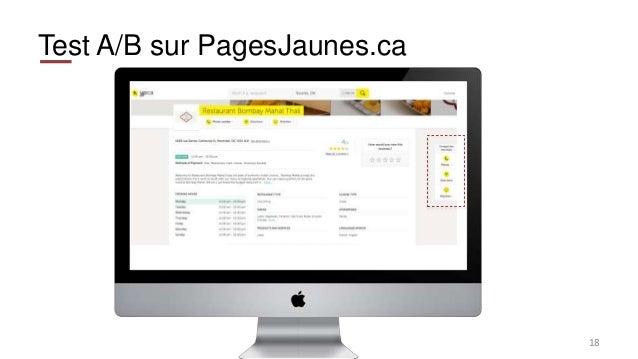 Test A/B sur PagesJaunes.ca 18