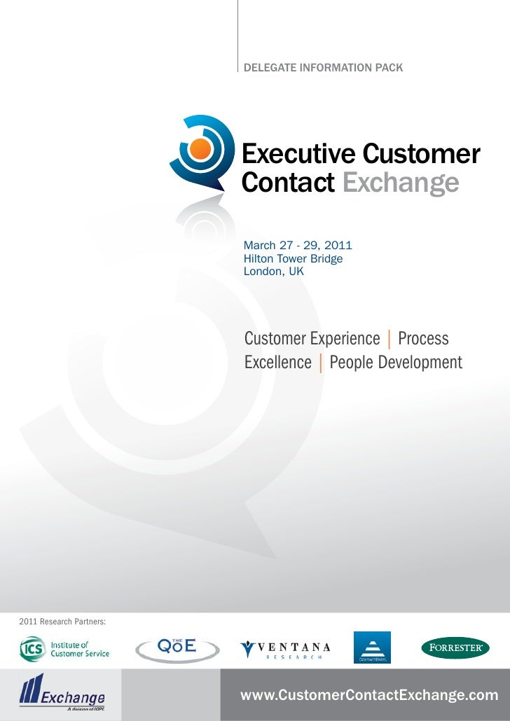 DElEgatE InformatIon PaCk                               Executive Customer                           Contact Exchange     ...