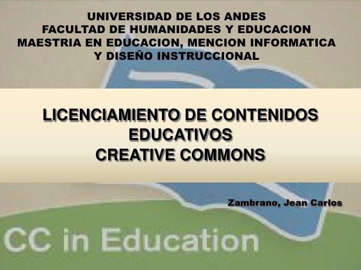 UNIVERSIDAD DE LOS ANDES <br />FACULTAD DE HUMANIDADES Y EDUCACION<br />MAESTRIA EN EDUCACION, MENCION INFORMATICA Y DISEÑ...