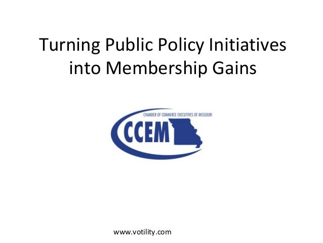 www.votility.com Turning Public Policy Initiatives into Membership Gains