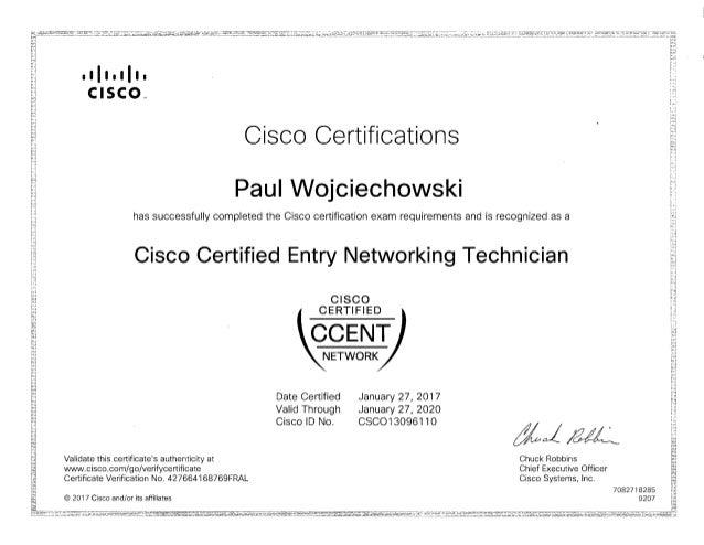 certification ccent cisco