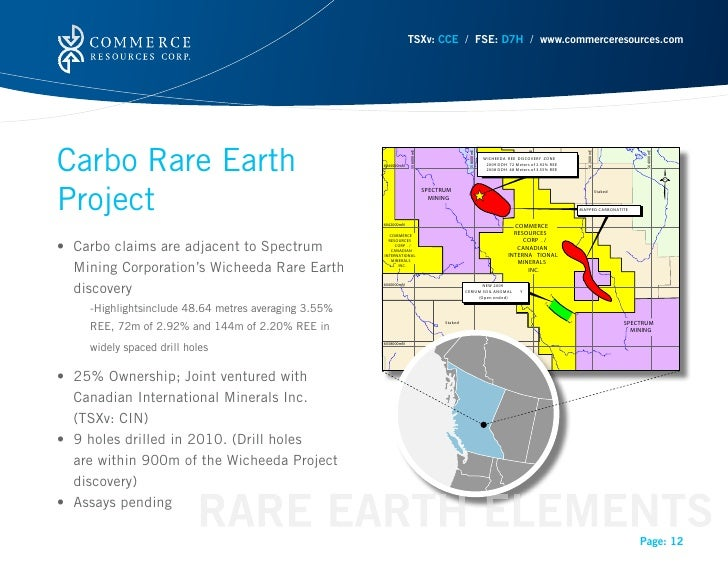 TSXv: CCE / FSE: D7H / www.commerceresources.comCarbo Rare Earth                                                          ...