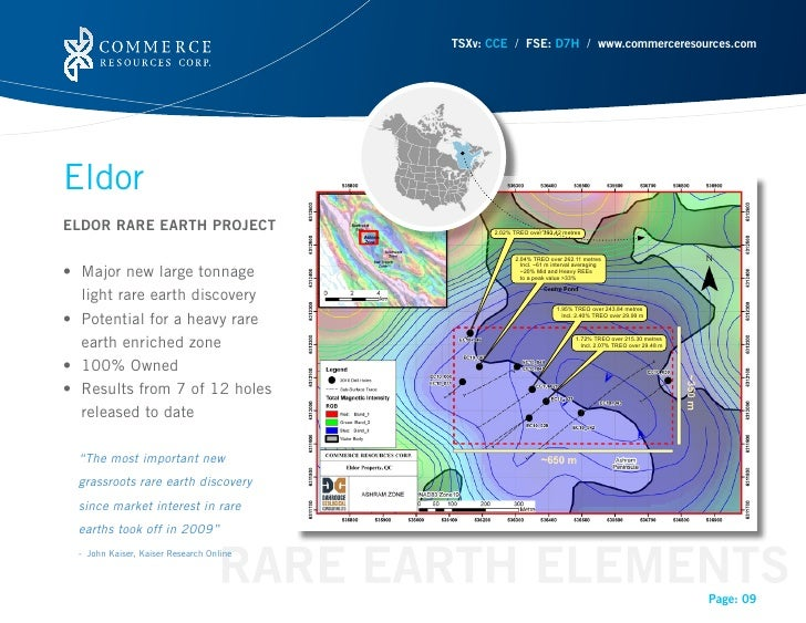 TSXv: CCE / FSE: D7H / www.commerceresources.comEldorELDOR RARE EARTH PROJECT• Majornewlargetonnage   light rare eart...