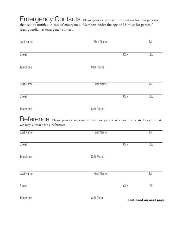 Emergency Contact Form. Emergency Contact Information Form Sample ...