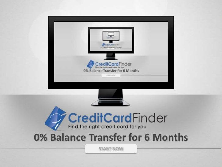 0% Balance Transfer for 6 Months<br />START NOW<br />