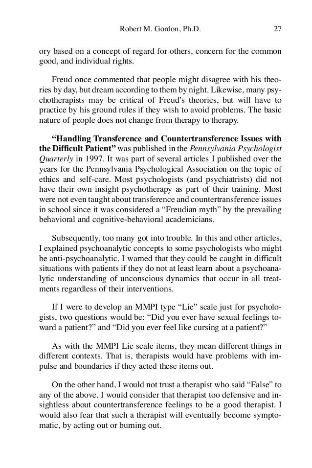 Love countertransference signs of Countertransference in