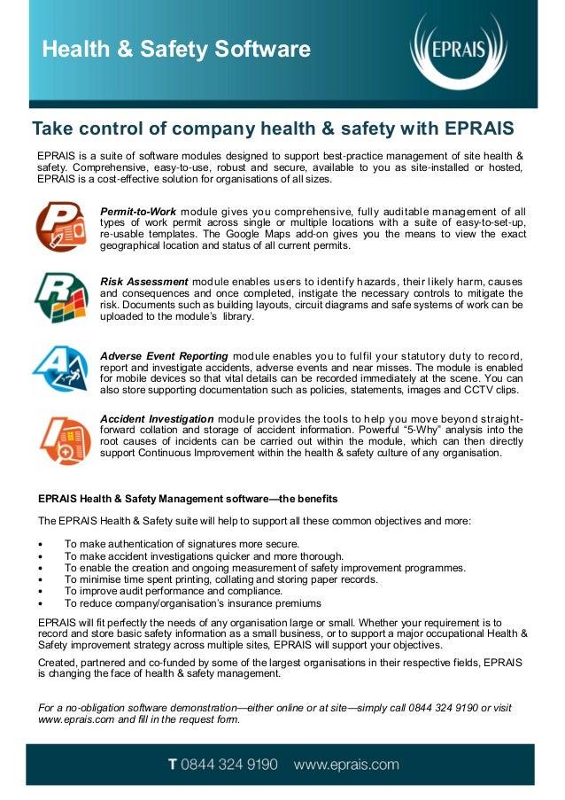 EPRAIS Health & Safety Software Factsheet