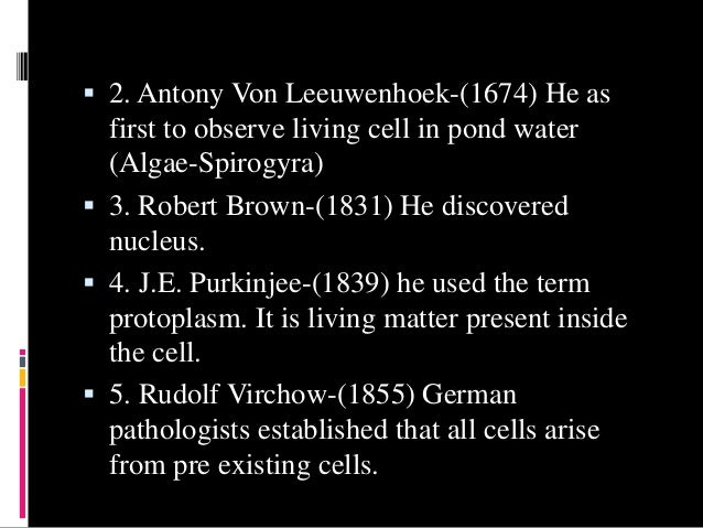 cell the unit of life Cell : cell is the structural and functional unit of life cell theory was formu- lated by scheleiden and schwann and was modified by rudolf virchow states : (a) all living organisms are composed of cells and products of cells (b) all cells arise from pre-existing cells prokaryotic cells genetic material is not enveloped by nuclear envelope.