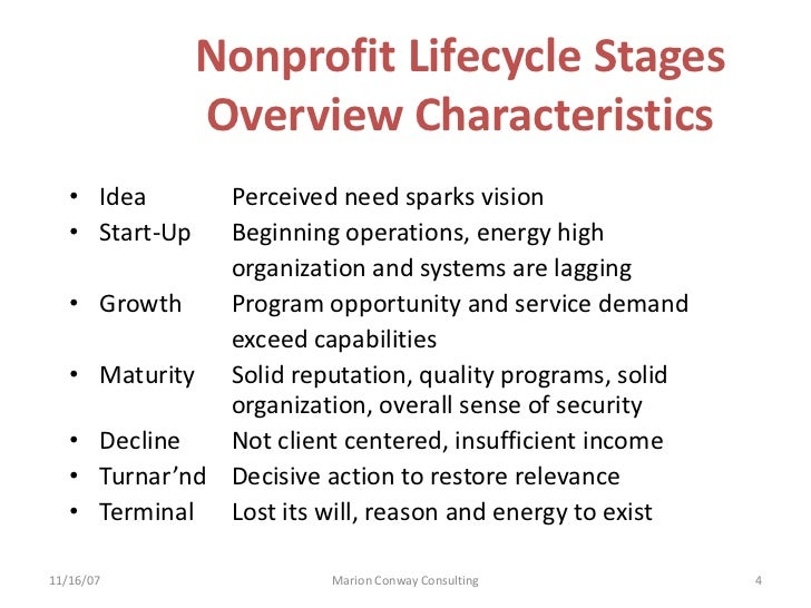 Nonprofit Lifecycle Analysis 9 15 12