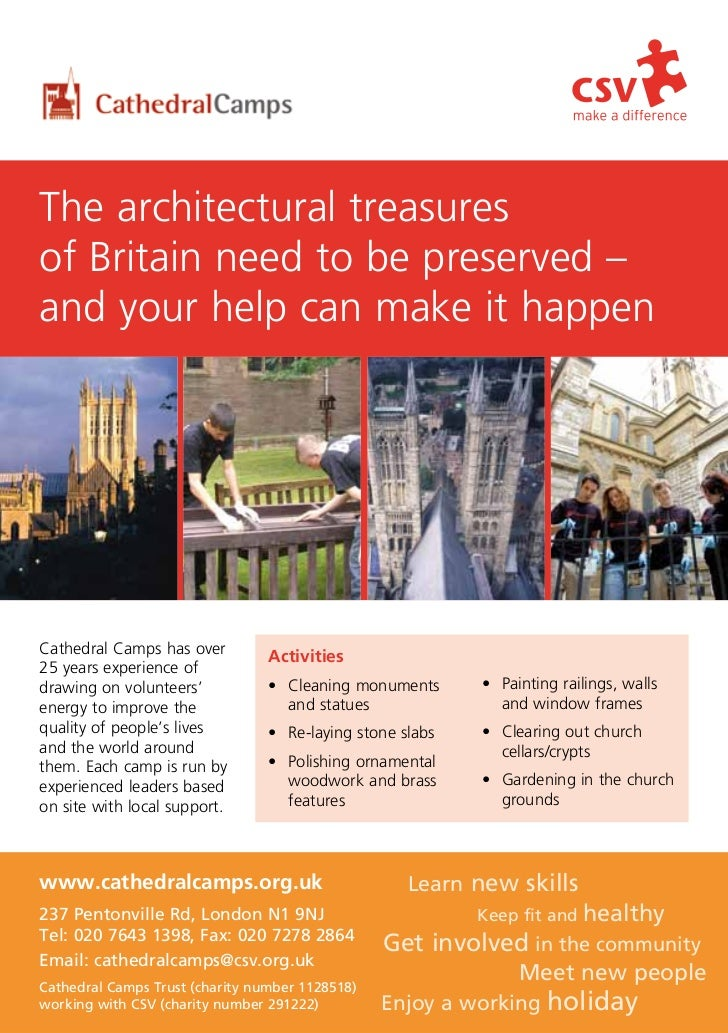 The architectural treasuresof Britain need to be preserved –and your help can make it happenCathedral Camps has over      ...