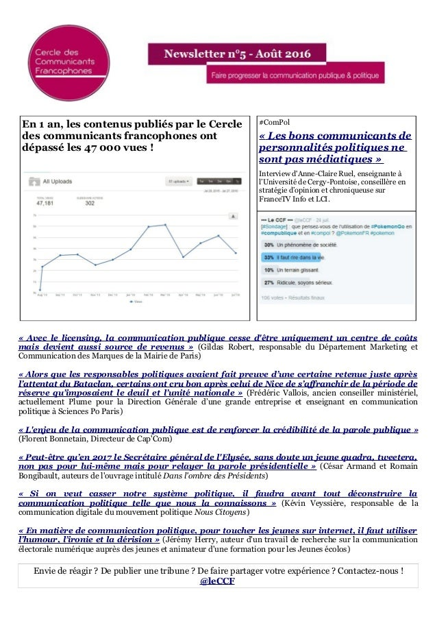 En 1 an, les contenus publiés par le Cercle des communicants francophones ont dépassé les 47 000 vues ! #ComPol « Les bons...