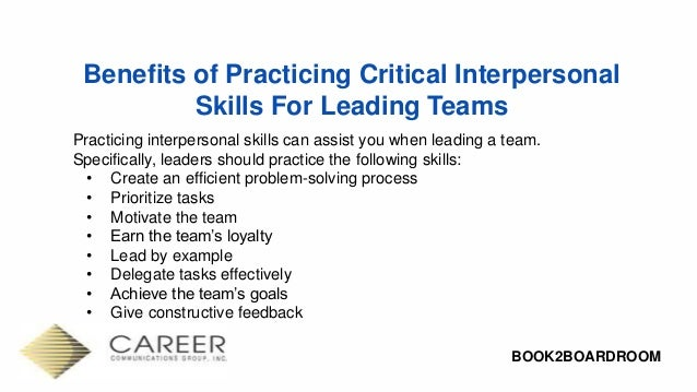 Interpersonal Skills: Creating and Building Powerful Connections