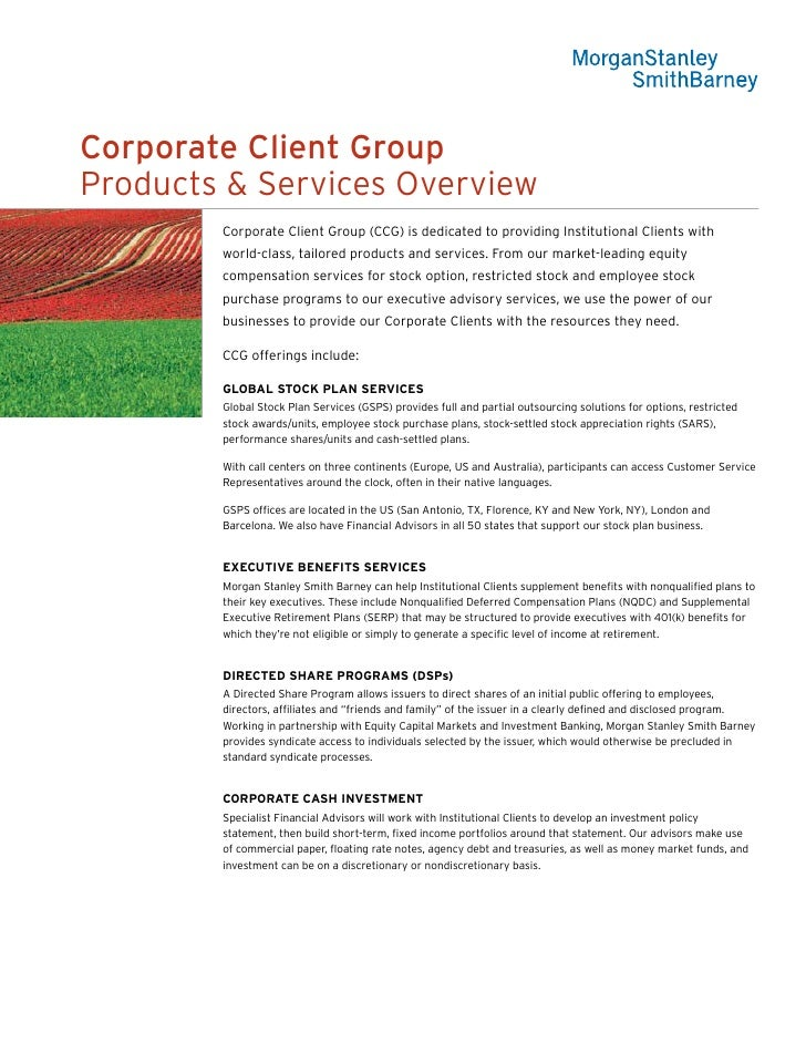 Corporate Client Group Overview