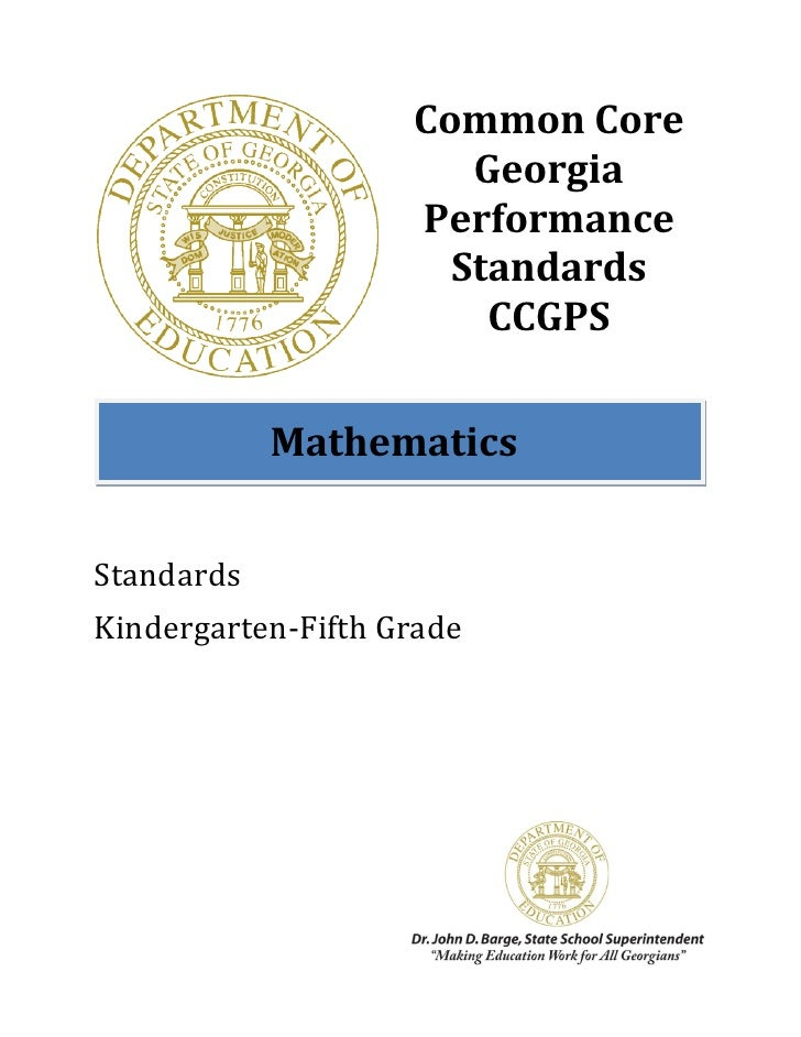 Common Core                       Georgia                    Performance                      Standards                   ...