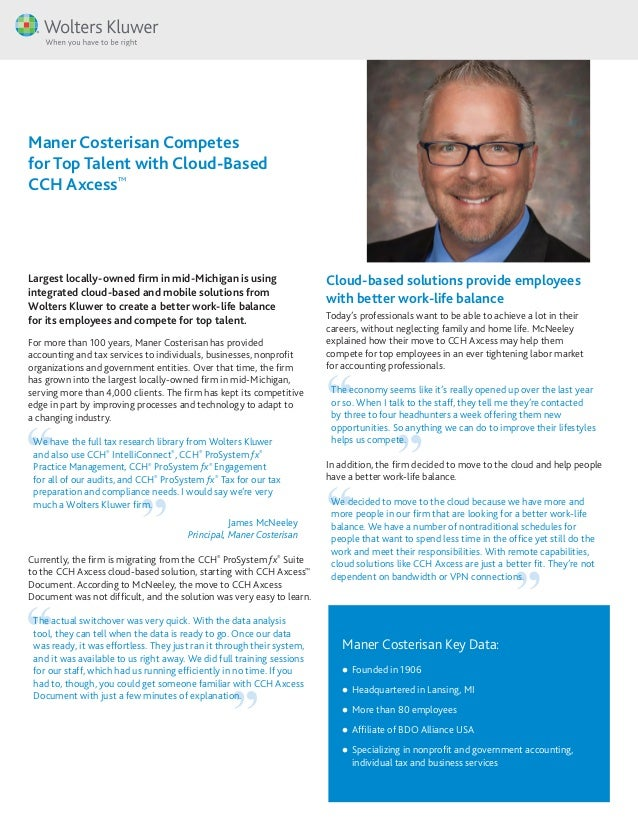 Maner Costerisan Key Data: ll Founded in 1906 ll Headquartered in Lansing, MI ll More than 80 employees ll Affiliate of BD...