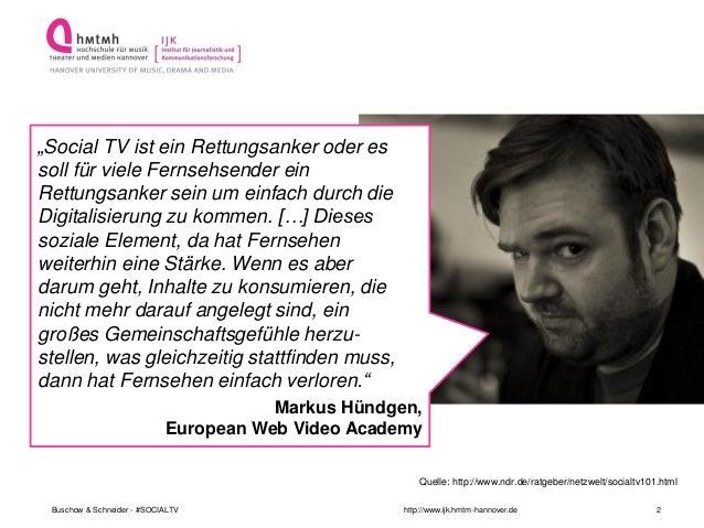 Social TV - Die Neue Lust am Fernsehen Slide 2