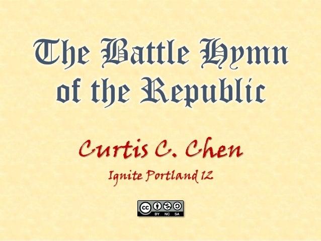 "Ignite Portland 12: ""The Battle Hymn of the Republic"""