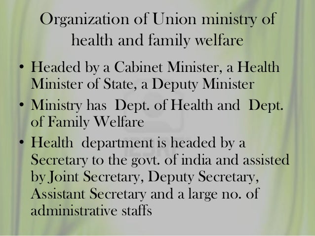 Central council for health an family welfare - Cabinet secretariat govt of india ...