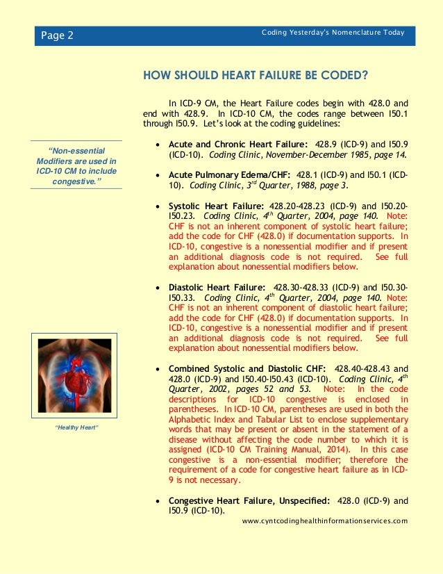 icd 10 code for chf with pulmonary edema