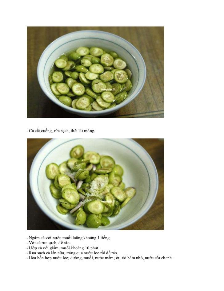 Cách làm cà muối xổi nhanh và ngon Slide 2