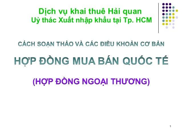 1 Dịch vụ khai thuê Hải quan Uỷ thác Xuất nhập khẩu tại Tp. HCM