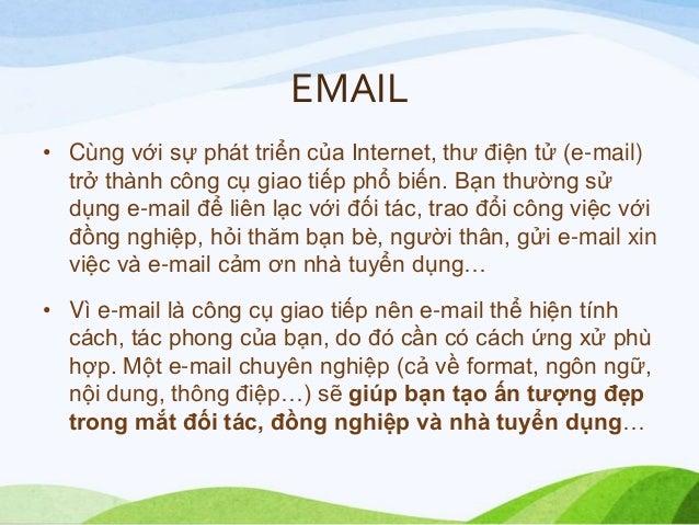 Cách viết email Slide 2