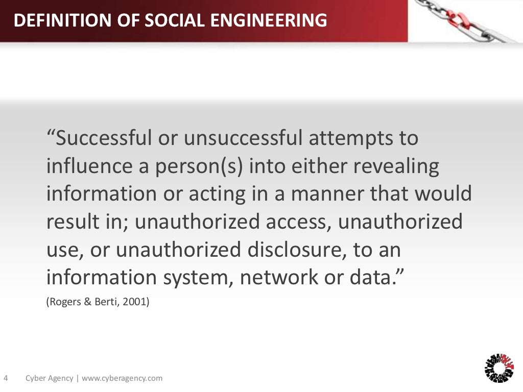 "definition of social engineering ""successful"