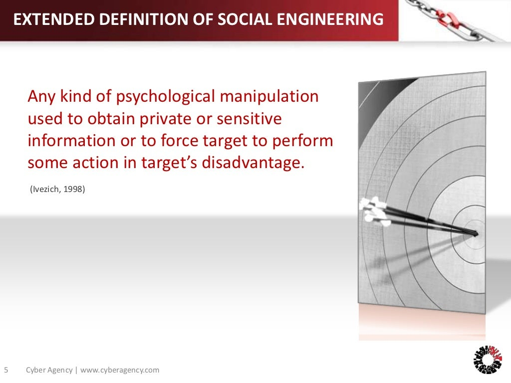 extended definition of social engineering