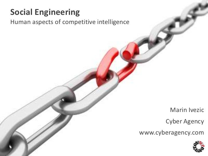 Social EngineeringHuman aspects of competitive intelligence                                                     Marin Ivez...