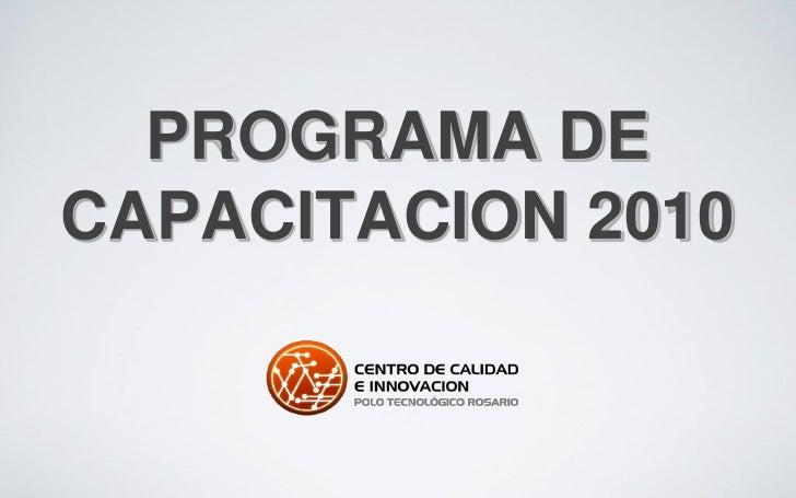 PROGRAMA DE CAPACITACION 2010