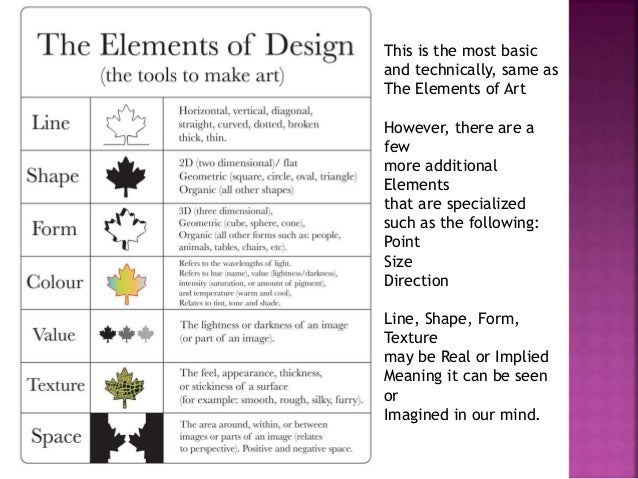 Elements Of Arts And Its Meaning : Cci lec definition of design its elements and principle