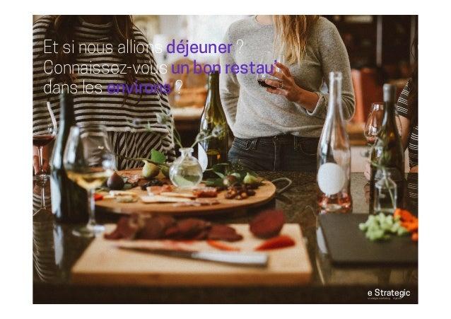 Et si nous allions déjeuner ? Connaissez-vous un bon restau' dans les environs ? e-Strategicstratégie marketing & digitale