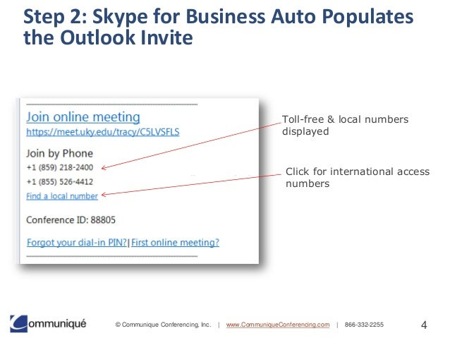 Skype for business macos auto dial number