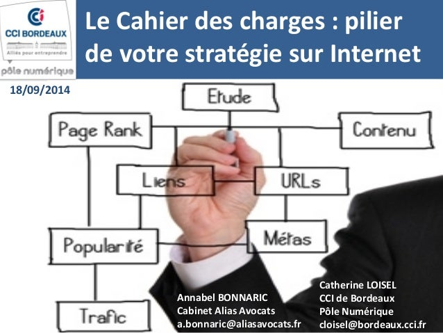 Le Cahier des charges : pilier de votre stratégie sur Internet  Annabel BONNARIC  Cabinet Alias Avocats  a.bonnaric@aliasa...