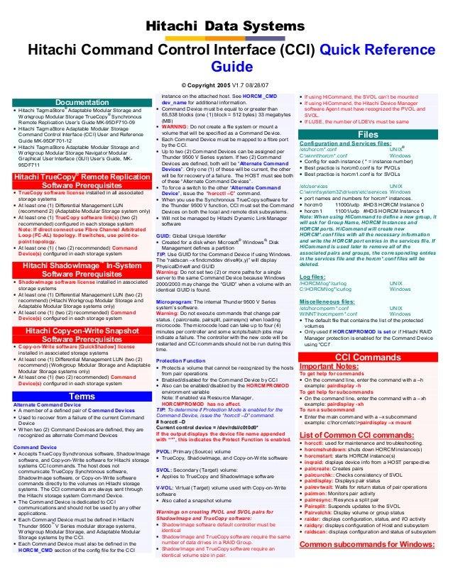 Hitachi truecopy user guide.