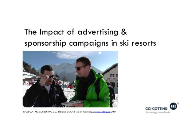 © CCI COTTING CONSULTING LTD., Zilstrasse 27, CH-8153 ZH-Ruemlang, www.cci-cotting.ch, 2014 The Impact of advertising & sp...