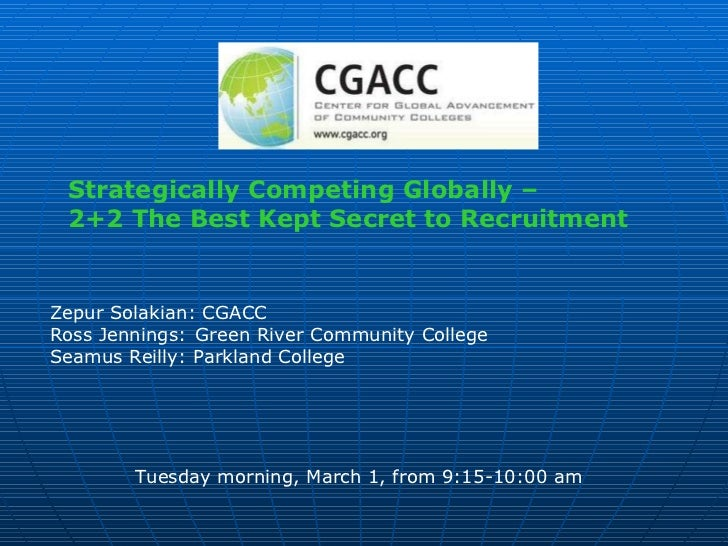 Strategically Competing Globally –  2+2 The Best Kept Secret to Recruitment   Zepur Solakian: CGACC Ross Jennings: Green R...