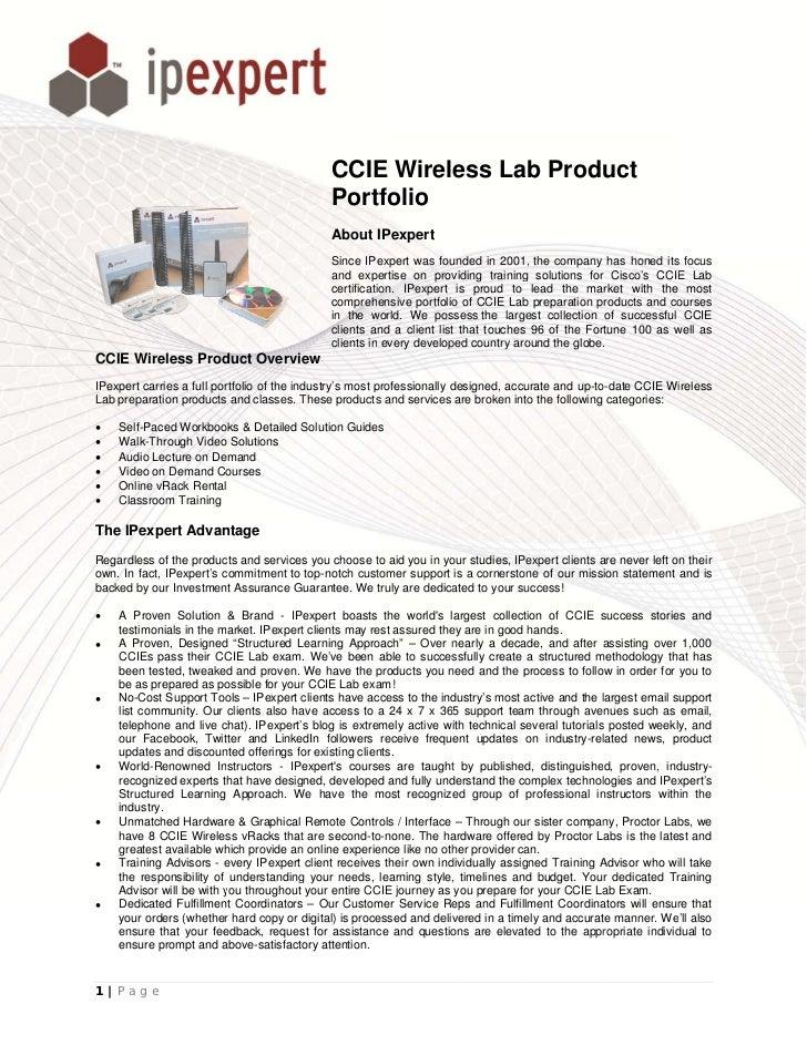 CCIE Wireless Lab Product                                                   E                                             ...