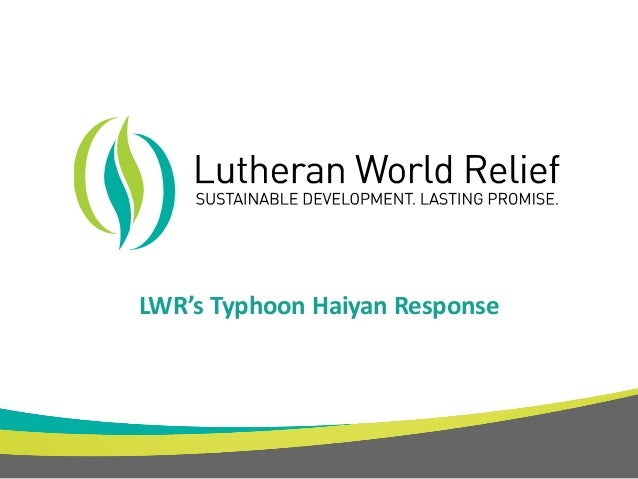 LWR's Typhoon Haiyan Response