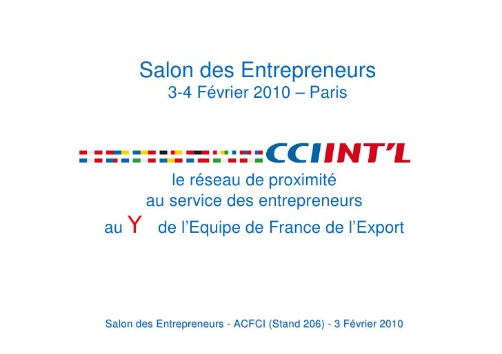 Salon des entrepreneurs 3 f vrier 2010 conference export for Salon des entrepreneurs paris