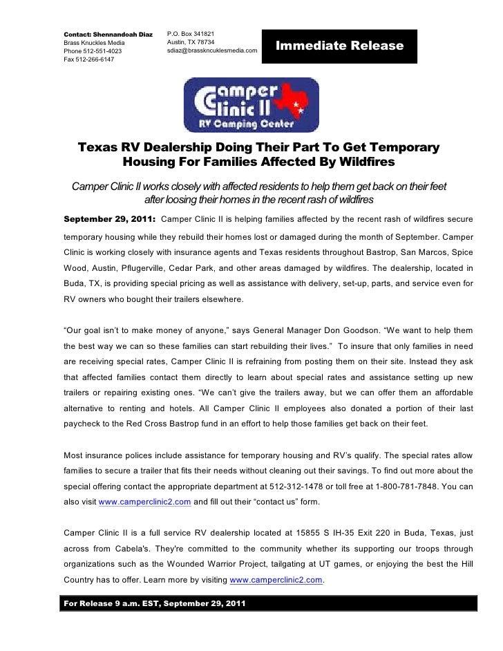 Contact: Shennandoah Diaz   P.O. Box 341821Brass Knuckles MediaPhone 512-551-4023                            Austin, TX 78...