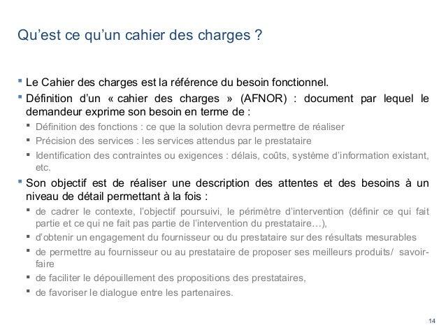 Ccimp rdv tic cahier des charges erp 2014 - Cahier des charges definition ...