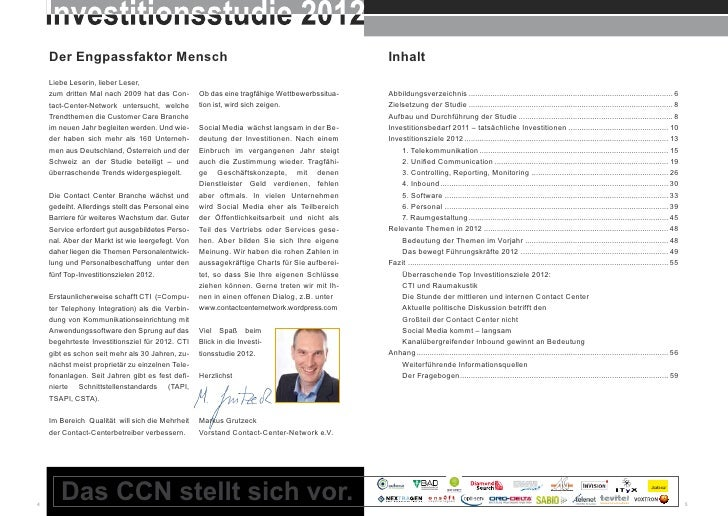 Contact Center Network: Investitionsstudie 2012 Slide 3