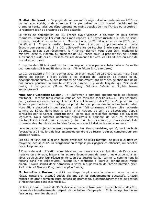 Cci Senat Compte Rendu Analytique Officiel Du  Janvier