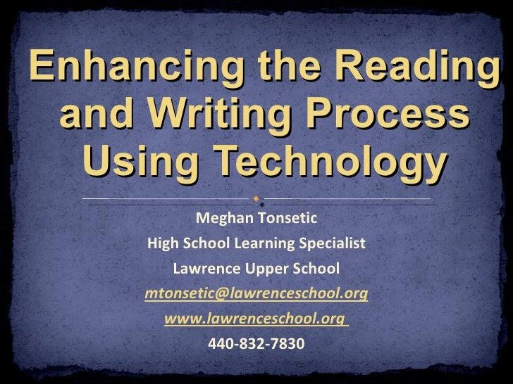 Meghan Tonsetic High School Learning Specialist Lawrence Upper School [email_address] www.lawrenceschool.org  440-832-7830...