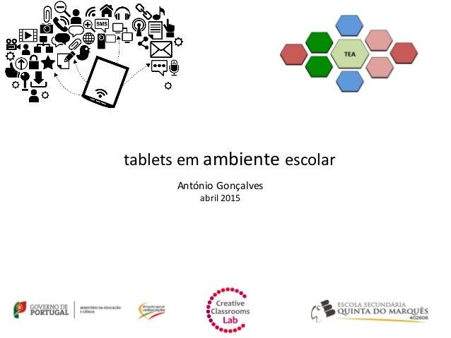 tablets em ambiente escolar António Gonçalves abril 2015