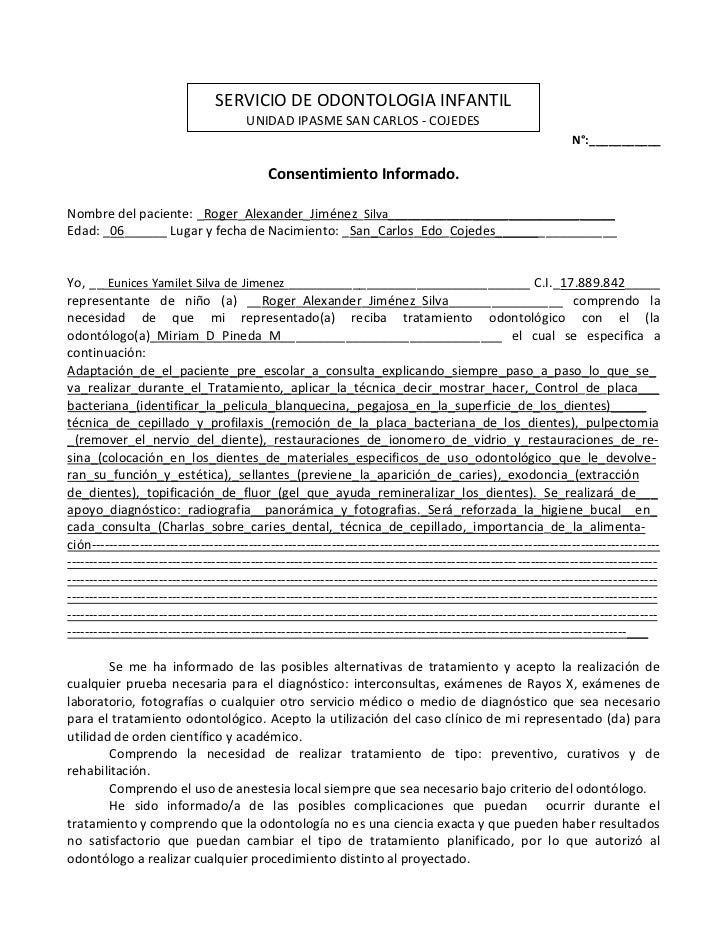 SERVICIO DE ODONTOLOGIA INFANTIL                                        UNIDAD IPASME SAN CARLOS - COJEDES                ...