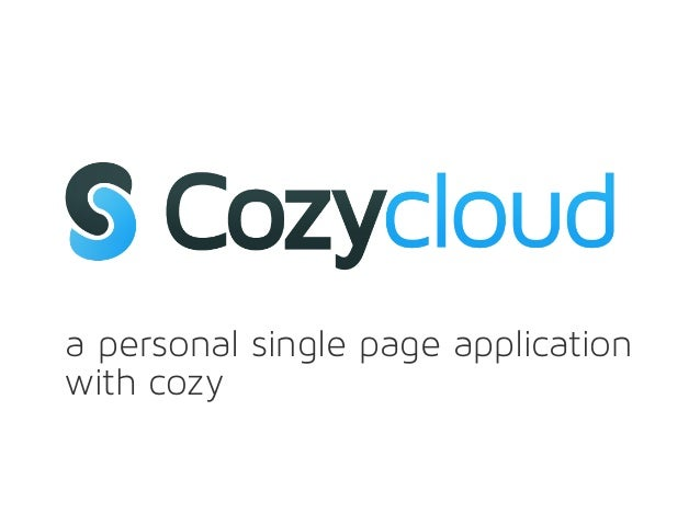 a personal single page applicationwith cozy