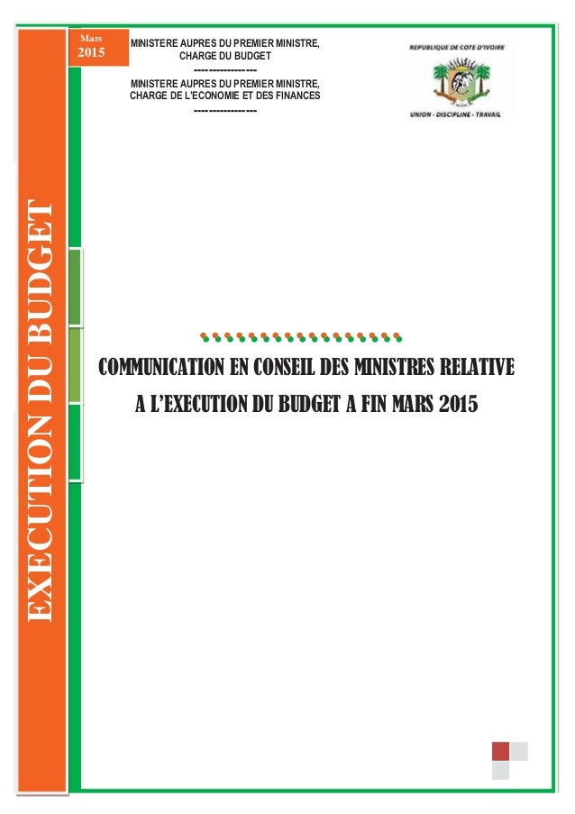 0 septembre 2014 Communication en Conseil des Ministres 333 COMMUNICATION EN CONSEIL DES MINISTRES RELATIVE A L E ECUTION ...
